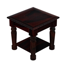 Vallecito Country Style Rustic Solid Wood 2 Tier End Table