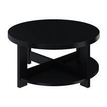 Zayante Rustic Solid Wood Round Nesting Coffee Table Set of 3