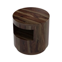 Ladonia Rustic Solid Wood Round End Table