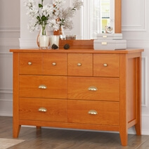 Longport Traditional Style Mahogany Wood 8 Drawer Dresser