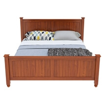 Delanson Solid Mahogany Wood 6 Piece Bedroom Set