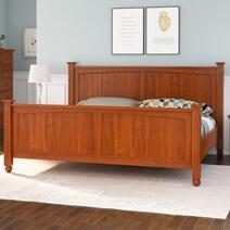 Delanson Solid Mahogany Wood Platform Bed