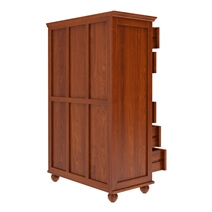 Delanson Solid Mahogany Wood Tall Bedroom Dresser With 8 Drawers