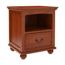 Delanson Solid Mahogany Wood 1 Drawer Nightstand