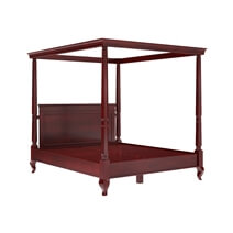 Cayuta Traditional Style Solid Mahogany Wood Platform Canopy Bed