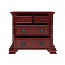Cayuta Traditional Style Solid Mahogany Wood 4 Drawer Nightstand