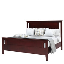 Amenia Solid Mahogany Wood 6 Piece Bedroom Set