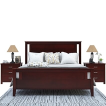 Amenia Solid Mahogany Wood Platform Bed