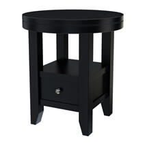 Toledo Modern Round Solid Top Wood 2 Tier End Table