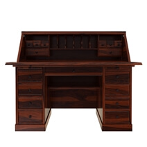 Altamahaw Rustic Solid Wood Drop Front Home Office Secretary Desk