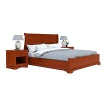 Duanesburg Mahogany Wood 4 Piece Bedroom Set