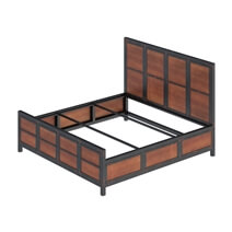 Kagawa Industrial Rustic Iron Platform Bed