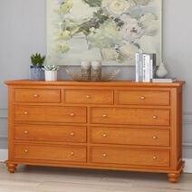 Wamsutter Solid Mahogany Wood 9 Drawer Standard Dresser