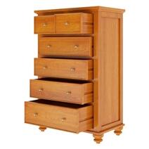 Wamsutter Solid Mahogany Wood 6 Drawer Tall Dresser