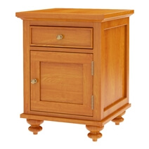 Wamsutter Solid Mahogany Wood 1 Drawer Nightstand
