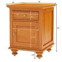 Wamsutter Solid Mahogany Wood 1 Drawer Nightstand