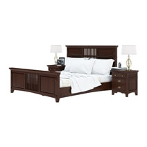 Bardugo Traditional Solid Mahogany Wood Platform Bed