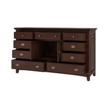 Bardugo Traditional Solid Mahogany Wood 9 Drawer Dresser