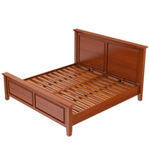 Kristoff Mahogany Wood 6 Piece Bedroom Set