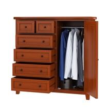 Kristoff Solid Mahogany Wood 6 Drawer Gentleman Dresser
