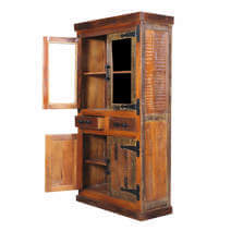 Gerlach Reclaimed Wood Furniture Tall Storage Cabinet