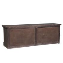 Brushton Unique Reclaimed Wood Furniture Sliding Door TV Stand