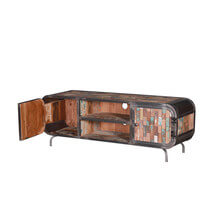 Canjilon Reclaimed Wood Furniture Industrial TV Media Console