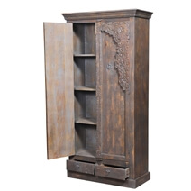Sheyenne Heritage Door Reclaimed Wood Furniture Tall Storage Cabinet