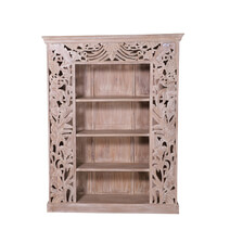 Anamoose Reclaimed Wood Furniture 4 Open Shelf Bookcase