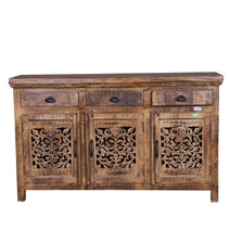 Morganza Unique Reclaimed Wood Furniture Rustic Sideboard Cabinet
