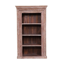 Eunola Reclaimed Wood Furniture 4 Open Shelf Standard Bookcase
