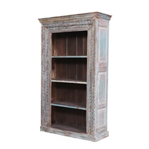 Daviston Reclaimed Wood Furniture 4 Open Shelf Standard Bookcase