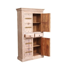 Beckville Reclaimed Solid Wood Shabby Chic 4 Door Armoire Cabinet