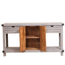 Gibsland Reclaimed Wood 2 Drawer Media Console TV Stand Table