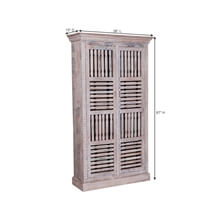 Barwick Lattice Door Reclaimed Wood Tall Armoire Cabinet