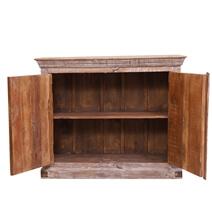 Braymer Cross Wooden Door Rustic Reclaimed Wood Storage Cabinet