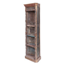 Ekalaka Reclaimed Wood 4 Shelves Caved Corner Display Unit
