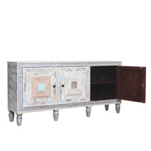 Glenvar Reclaimed Wood Furniture Accent White Rustic Media Console