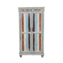Rolette Reclaimed Wood Furniture Rustic Tall Storage Cabinet