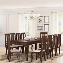 Cromberg Solid Mahogany Wood Large Dining Table
