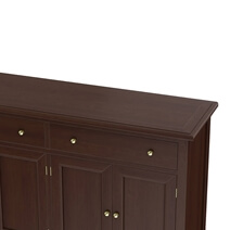 Cromberg Solid Mahogany Wood 2 Drawer Large Sideboard Cabinet