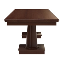 Cazenovia Solid Mahogany Wood Large Dining Table