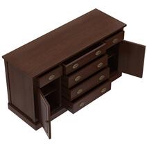 Cazenovia Solid Mahogany 6 Drawer Large Sideboard Cabinet