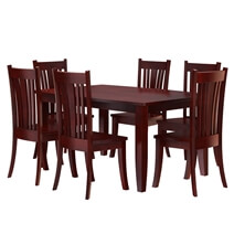 Barryton Solid Mahogany Wood 8 Piece Dining Room Set