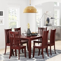 Barryton Solid Mahogany Wood Rectangular Dining Table