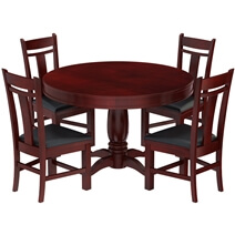 Garcia Mahogany Wood 6 Piece Dining Room Set