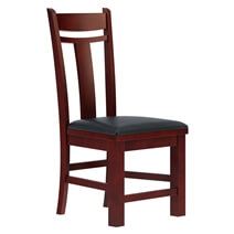 Garcia Solid Mahogany Wood Upholstered Dining Chair