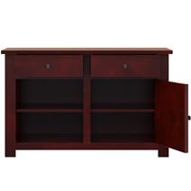 Garcia Solid Mahogany Wood 2 Drawer Kitchen Sideboard Cabinet