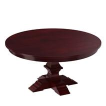 Aripeka Solid Mahogany Wood Pedestal Round Dining Table