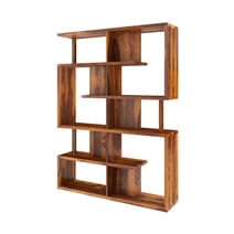 Fairfield Modern Geometric Bookcase For Home and Office
